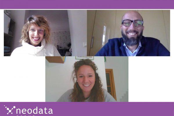 I relatori del webinar: Nicoletta, Matteo e Martina